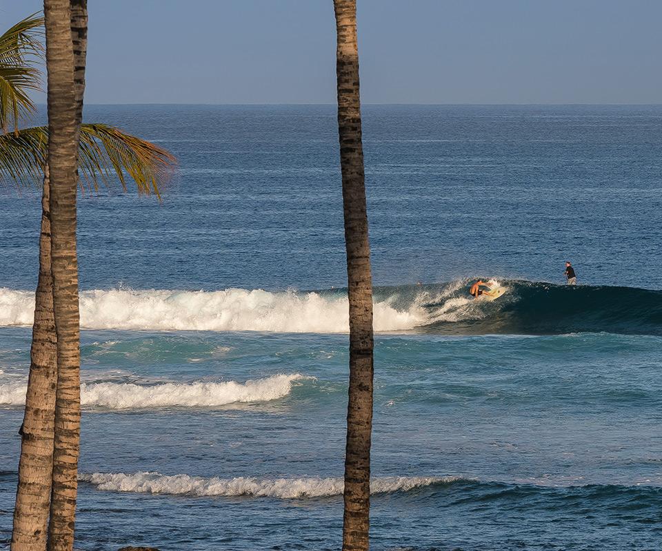 Live the surf across the waves of big island Hawaii