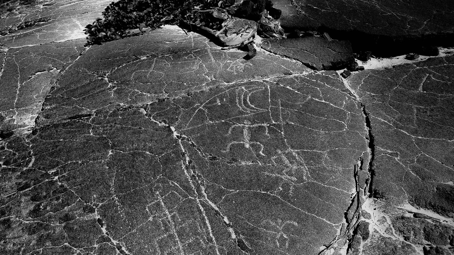 More than 3,000 ancient kii pohaku (petroglyphs) are preserved at nearby Puako